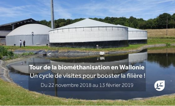 P'tit tour de la biométhanisation en Wallonie